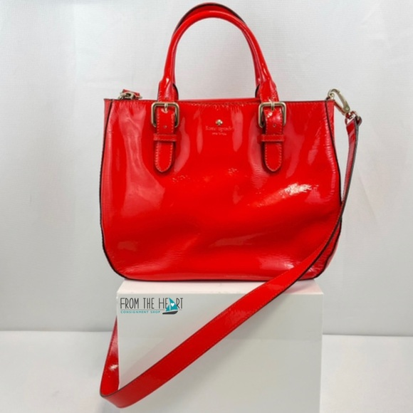 Kate Spade Red Patent Leather Satchel